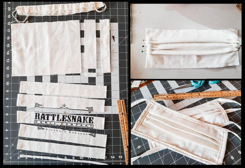 How-To: Converting a Rattlesnake Cable Company cable bag into a Face Mask